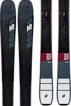 K2 Mindbender 88Ti Alliance Ski Only Women's Skis, 163cm Graphite 2020
