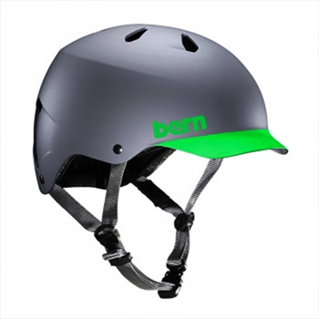 Bern Watts H2O Watersports Wakeboard Helmet, XL Grey Green 2019