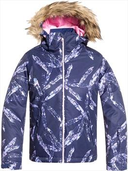 Roxy Jet Ski Girl's Ski/Snowboard Jacket, 10 Yrs Medieval Blue Arctic