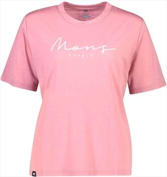Mons Royale Suki BF Women's Merino Wool T-Shirt, XS Dusty Pink