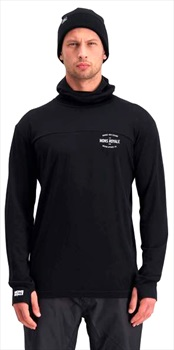 Mons Royale Yotei Powder Hood LS Merino Thermal, L Black