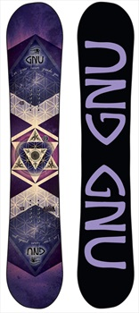 GNU Ladies Choice Women's Hybrid Camber Snowboard, 145.5cm 2020