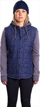 Armada Ruston Flannel Hoodie Women's Insulated Jacket, M Denim