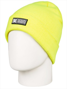 DC Label Ski/Snowboard Beanie Hat, One Size Safety Yellow