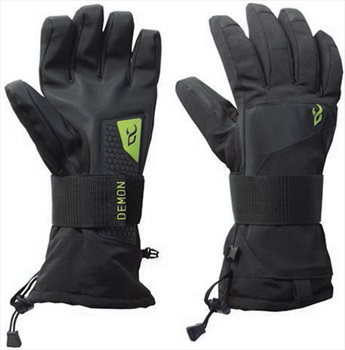 Demon Cinch Wrist Guard Ski/Snowboard Protective Gloves L Black/Green