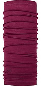 Buff Lightweight Merino Wool Neck Tube, One Size Solid Rasberry