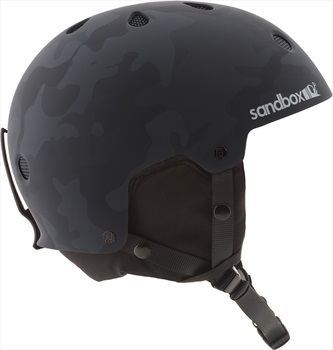 Sandbox Legend Snow Ski/Snowboard Helmet, Black Camo L