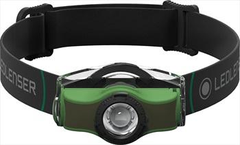 Led Lenser MH4 Headlamp IPX 4 Led Head Torch, 200 Lumens Black/Green