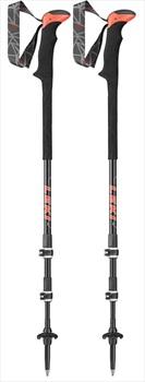 Leki Carbon TA XTG Ultralight Trekking Poles, 100-135cm Black/Red