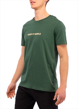 3rd Rock Life : Keep It Simple Men's Organic T-shirt, S Bottle Green