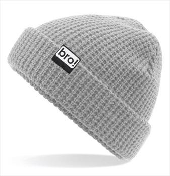 bro! Waffle Knit Ski/Snowboard Beanie, One Size Light Grey
