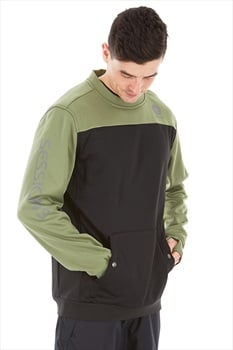 Sessions Adult Unisex Roster Ski/Snowboard Technical Pullover, L Olive