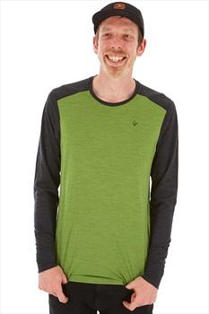 Norrona Adult Unisex Merino Wool Round Neck XL Bamboo Green/Charcoal
