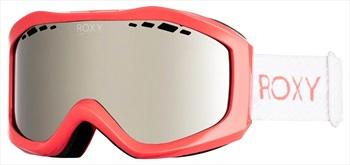 Roxy Sunset Mirror Silver Women's Ski/Snowboard Goggles, Living Coral