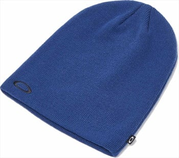 Oakley Fine Knit Snowboard/Ski Beanie Hat, One Size Dark Blue