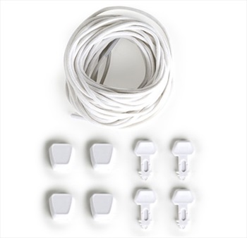 Ronix Auto Lock Lace Kit For Wakeboard Bindings, 4 Pack White
