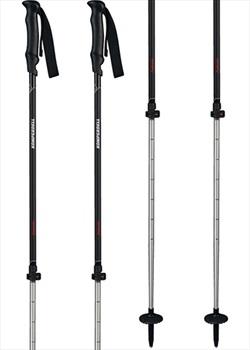Komperdell Peak Hunter Adjustable Trekking Poles, 90-125cm Black