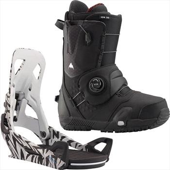 Burton Ion Step On Snowboard Binding & Boots, UK 7.5 Black/Volts 2020