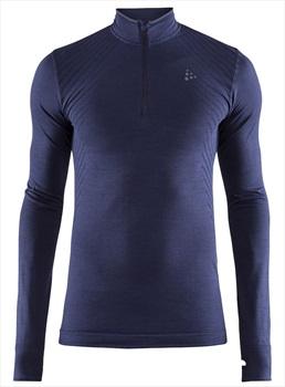 Craft Fuseknit Comfort Zip Long Sleeve Base Layer Top, L Maritime