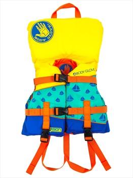 Body Glove Vision US CGA Kids Buoyancy Vest, Infant Yellow Green Blue