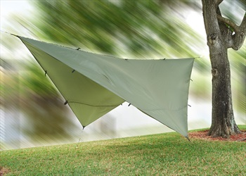 Snugpak All Weather Shelter Waterproof Tarp Cover, 3x3M Olive