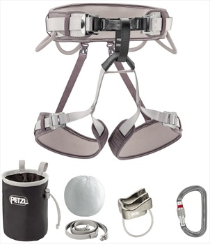 Petzl Corax Kit Climbing Harness Package, Size 1 Gray