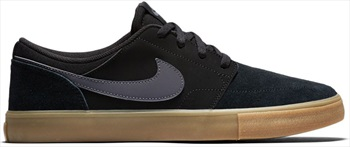 Nike SB Portmore II Solar Skate Shoes UK 8.5 Black/Grey/Gum