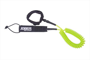 Jobe Coiled Leash For SUP, 10 Ft Black Green 2019