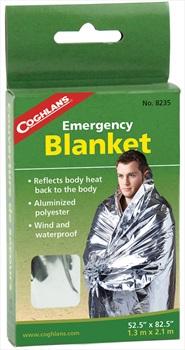 Coghlan's Emergency Blanket Compact Survival Blanket, Single Silver