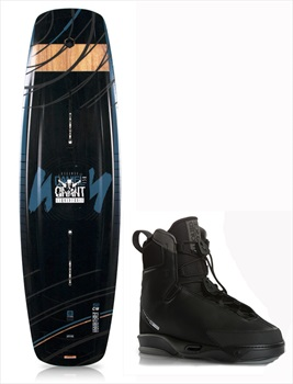 Liquid Force Eclipse | Tao 4D Wakeboard Package, 150|11-12 Black Blue