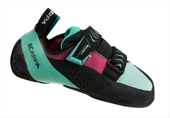 Scarpa Vapour V WMN Rock Climbing Shoe: UK 2.5 | EU 35, Dahlia & Aqua