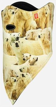 Airhole Standard 2 Layer Snowboard/Ski Face Mask, M/L Polar Bears