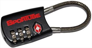 Sportube TSA 3 Digit Combination Cable Lock, Black, STA084562