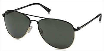 Von Zipper Farva Grey Lens Sunglasses, Black Satin/Gold
