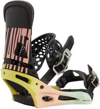 Burton Malavita Re:Flex Snowboard Bindings, Large Pink/Yellow/Blue 2021