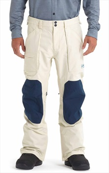 Burton Southside Slim Snowboard/Ski Pants, M Almond Milk/Blue