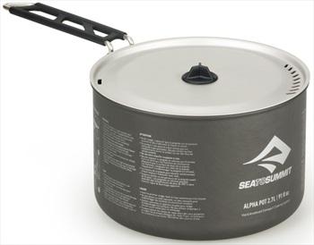 Sea to Summit Alpha Pot Lightweight Camping Cookware, 2.7L Grey