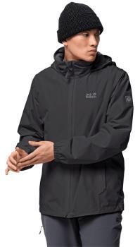 Jack Wolfskin Stormy Point Waterproof Hiking Jacket, XL Black