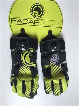 Radar Strada Boa Water Ski Gloves, XL Black Yellow