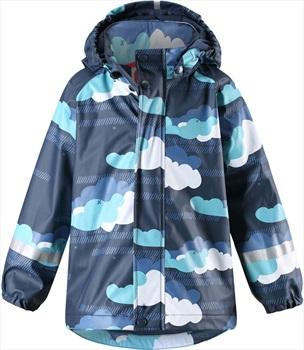 Reima Koski Fleece Lined Jacket Kid's Waterproof Raincoat, Age 6 Navy