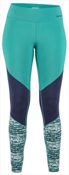 Marmot Womens Lana Lightweight Tight Baselayer Leggings, UK 14 Teal