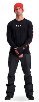 Mons Royale Olympus 3.0 Long Sleeve Merino Wool Top, M Black