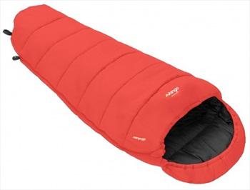 Vango Wilderness Junior Children's Sleeping Bag, Single, Hot Coral