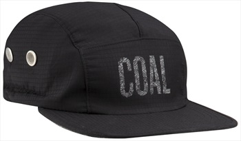 Coal The Lawrence 5 Panel Cap With Protection Flap, Black