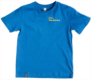 DMM Climb Now Homework Later Kids Rock Climbing T-Shirt, 7-8 Blue