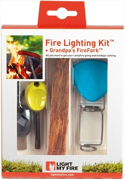 Light My Fire Fire Lighting Kit Waterproof Fire Starter, Lime/Cyan