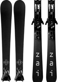 Zai Adult Unisex Rubber Skis, 158cm Black