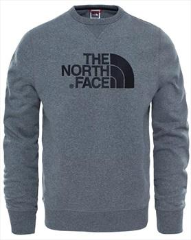 The North Face Adult Unisex Drew Peak Crew Pullover Jumper, L Grey Heather/Black