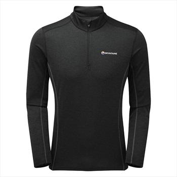 Montane Adult Unisex Dart Zip-Neck Long-Sleeve Running Top, M Black