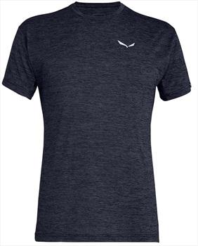 Salewa Puez Melange Dry Rock Climbing T-shirt, L Premium Navy